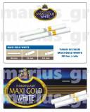 MAXIGOLD WHITE 200 - Tuburi tigari pentru injectat tutun - cu filtru alb
