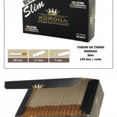 1.200 tuburi de tigari Slim Korona pentru injectat tutun - Foite tigari
