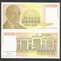 IUGOSLAVIA 500000 500.000 DINARI DINARA 1994 UNC [1] P-143, necirculata - bancnota europa