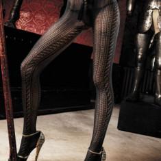 Ciorapi - Baci Ciorapi Negri Crosetati 729 - Lenjerie sexy femei