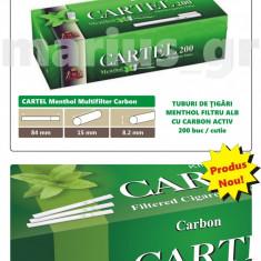 1000 tuburi tigari CARTEL Menthol Carbon Multifilter - mentolate pentru tutun - Foite tigari