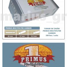 2.000 tuburi de tigari Primus Multifilter cu Carbon activ pentru injectat tutun - Foite tigari