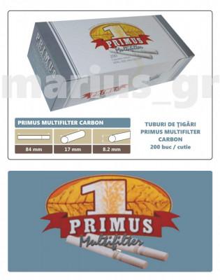 2.000 tuburi de tigari Primus Multifilter cu Carbon activ pentru injectat tutun foto