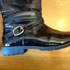 Cizme negre Zara M 34 (fete 8-10 ani) - Cizme copii Zara, Culoare: Negru
