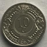 ANTILELE OLANDEZE 10 CENTI, CENTS 1990, Europa