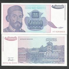 IUGOSLAVIA 50000 50.000 DINARI 1993 UNC [1] P-130, necirculata - bancnota europa