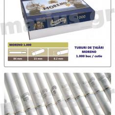 MORENO 2 X 1.000 - 2000 Tuburi de tigari cu filtru alb, pentru injectat tutun - Foite tigari