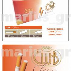 CLUB CLASSIC - Pachet 10 cutii tuburi tigari pentru injectat tutun x 200 buc. - Foite tigari