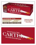 CARTEL FILTER PLUS 20 mm - Pachet 10 cutii tuburi de tigari pentru tutun