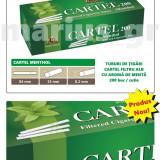 Tuburi de tigari Cartel MENTHOL, mentolat - set / 2.000 tuburi pentru tutun - Foite tigari