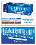 CARTEL 100's BLUE - SUPER LONG 25 mm - Pachet 10 cutii tuburi tigari x 200 buc.