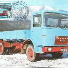 N(2)ilustrata maxima-AUTOVEHICULE ROMANESTI-Autocamionul Roman R 8135 F-prima zi, Romania de la 1950, An: 1978, Transporturi