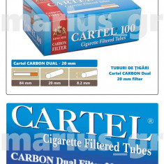 Cartel CARBON DUAL Filter 20 mm - 10 cutii tuburi de tigari multifiltru, tutun