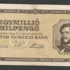 UNGARIA 1000000 1.000.000 PENGO 24 MAI 1946 [2] VF - bancnota europa