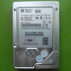 HDD 6.4GB Western Digital AC26400 ATA IDE - BAD-uri - Hard Disk Western Digital, Sub 40 GB, Rotatii: 4200
