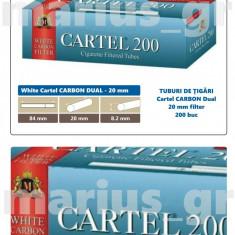 White Cartel CARBON DUAL Filter 20 mm -  tuburi de tigari multifiltru, tutun