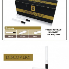 Discovery Gold 200 - Tuburi de tigari cu filtru negru pentru injectat tutun - Foite tigari