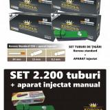 2.200 tuburi de tigari pentru tutun, KORONA 4 x 550 + injector manual - Foite tigari