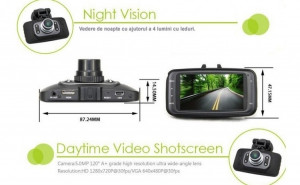 Camera auto Video DVR Auto, Full HD 1080P , Night Vision, Senzor Miscare