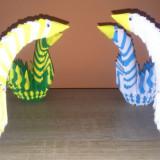 Origami decoratiuni fluturi lebede inimi