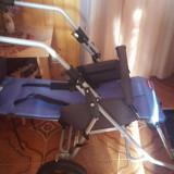 Carucior manual pentru handicap cu rotile moderne - Scaun cu rotile