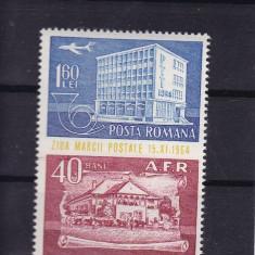 ROMANIA 1964, LP 595, ZIUA MARCII POSTALE ROMANESTI SERIE MNH - Timbre Romania, Nestampilat