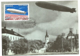 No(2)ilustrata maxima-DIRIJABILE-Zeppelinul LZ 127 survoland Sibiul-prima zi