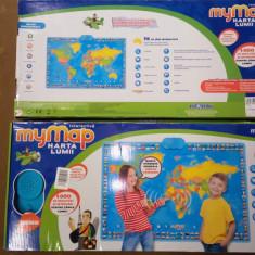 Harta interactiva a lumii Momki, Blingv, Romana - Jocuri Stiinte, Unisex