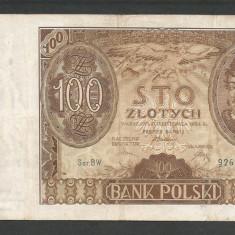 POLONIA 100 ZLOTI ZLOTYCH 1934 [1] P-75b, VF+ - bancnota europa