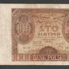POLONIA 100 ZLOTI ZLOTYCH 1932 [11] P-74a - bancnota europa