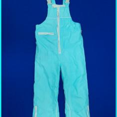 Pantaloni-salopeta iarna, impermeabili, IMPIDIMPI _ copii | 5-6 ani | 110-116 cm, Marime: Alta, Culoare: Turcoaz, Unisex
