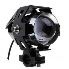 """Proiector LED Moto, ATV de 2"""" cu 2 faze si functie Stroboscop, putere 10W, 3000Lm"""