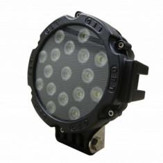 Proiector LED Auto Offroad 51W/12V-24V, 3740 Lumeni, Negru, Flood Beam 60 Grade - Proiectoare tuning
