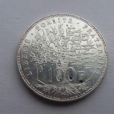 100 franci 1983 moneda argint Franta numismatica bani vechi monede colectie, Europa