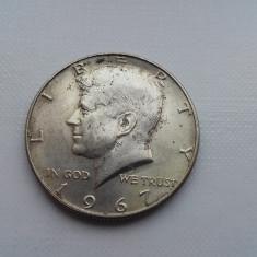 Half dollar 1967 moneda argint America numismatica monede bani vechi colectie, America Centrala si de Sud
