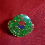 Insigna cu buton Coreea de Sud - Sport, L= 2, 3 cm