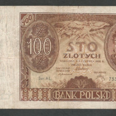 POLONIA 100 ZLOTI ZLOTYCH 1932 [13] P-74a - bancnota europa