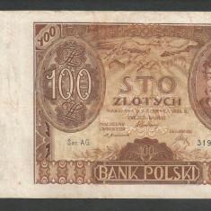 POLONIA 100 ZLOTI ZLOTYCH 1932 [3] P-74a, VF+ - bancnota europa