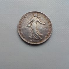 50 centimes 1918 moneda argint Franta numismatica monede colectie bani vechi, Europa