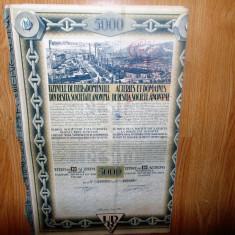 TITLU DE 10 ACTIUNI UZINELE DE FIER DOMENIILE DIN RESITA ANUL 1924