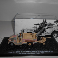 Macheta Chevrolet + Anti-Aircraft Gun - Lybia 1942 scara 1:72 - Macheta auto