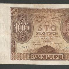 POLONIA 100 ZLOTI ZLOTYCH 1932 [6] P-74a, F - bancnota europa