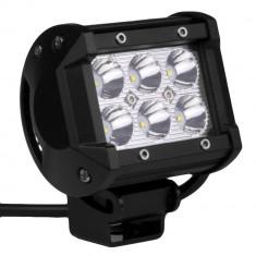 "LED Bar Auto Offroad 18W/12V-24V, 1530 Lumeni, 4""/10 cm, Spot Beam 12 Grade - Proiectoare tuning"