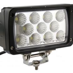 Proiector LED Auto Offroad 33W/12V-24V, 2420 Lumeni, Dreptunghiular, Flood Beam 60 Grade - Proiectoare tuning