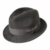 Palarie Bailey of Hollywood Riff Fedora Charcoal (Masura: M, L si XL) - Cod 2485 - Palarie Dama