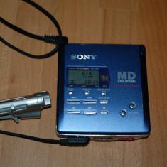 MINIDISC SONY MZ-R55 PORTABLE MINIDISC RECORDER + TELECOMANDA RM-MZR55