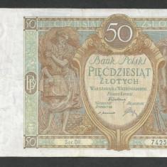 POLONIA 50 ZLOTI ZLOTYCH 1929 [4] P-71b - bancnota europa