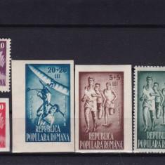 ROMANIA 1948, LP 249, OSP SERIE MNH, LOT 2 RO - Timbre Romania, Nestampilat
