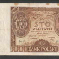 POLONIA 100 ZLOTI ZLOTYCH 1932 [16] P-74a - bancnota europa