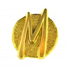 Brosa placata aur 18 k, editie limitata, semnata casa bijuterii Paris, vintage - Brosa placate cu aur